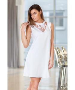 Kremowa sukienka bez rękawów - Gabi