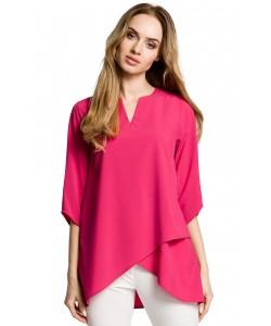Luźna bluzka damska - różowa