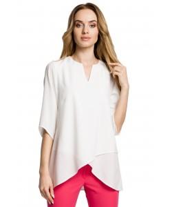 Luźna bluzka damska - ecru