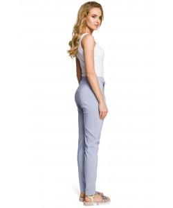 Damskie spodnie chino - niebieskie