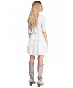 Damska sukienka boho - ecru