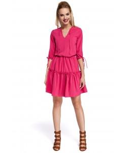 Damska sukienka boho - różowa