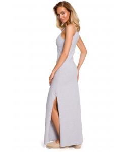Bawełniana sukienka maxi - szara