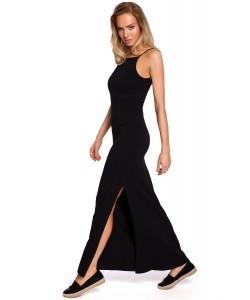 Bawełniana sukienka maxi - czarna