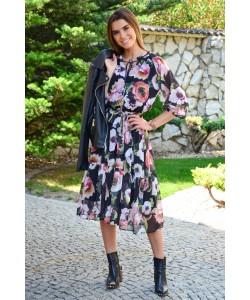 Kobieca sukienka boho Marina czarna