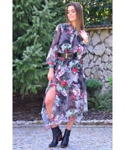 Sukienka z asymetrycznym dołem Simona szara
