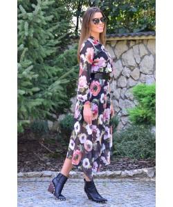 Sukienka z asymetrycznym dołem Simona czarna
