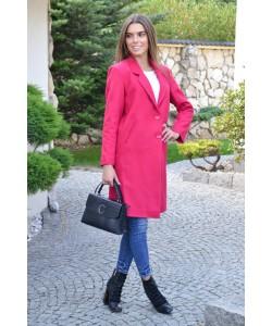 Przejściowy płaszcz na guziki Nadia amarant
