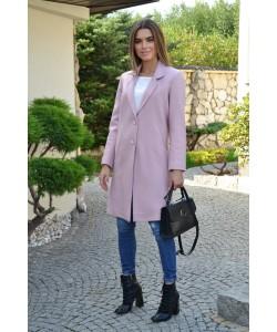 Przejściowy płaszcz na guziki Nadia wrzos