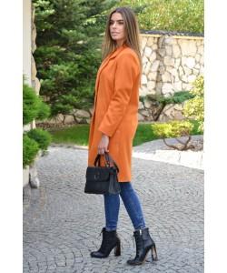 Przejściowy płaszcz na guziki Nadia rudy