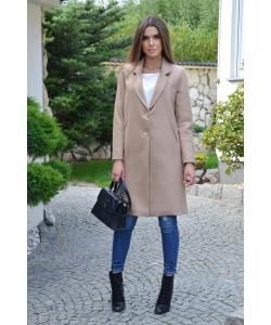 Przejściowy płaszcz na guziki Nadia beżowy