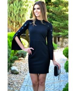 Sukienka z modnymi rękawkami Sylwia czarny