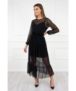 Czarna długa sukienka S-M Judyta czarna 1