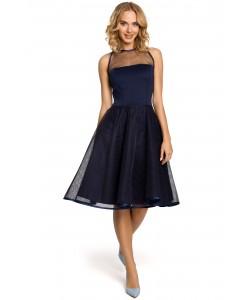 Kobieca sukienka wieczorowa S-XL Jana granatowa 1