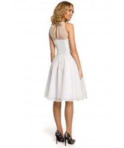Koktajlowa sukienka damska S-XL Jana ecru 1