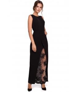Długa sukienka wieczorowa S-XXL Selena czarna 1