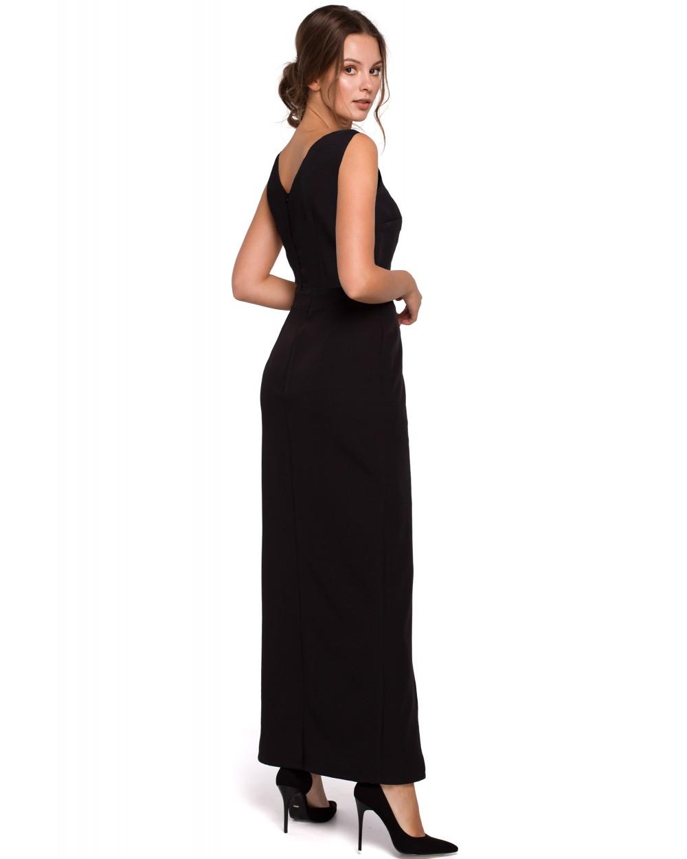 Długa sukienka wieczorowa S XXL Selena czarna