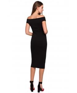 Sukienka z dekoltem carmen  S-XXL K001 czarna 1