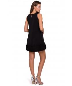 Kobieca sukienka o prostym kroju S-XXL K038 czarna