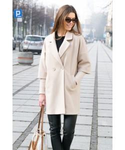 Elegancki płaszcz na guzik Oliwia beż