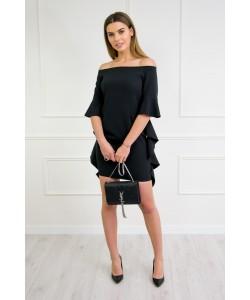 sukienka z zwisającymi rękawami maria czarna BLD