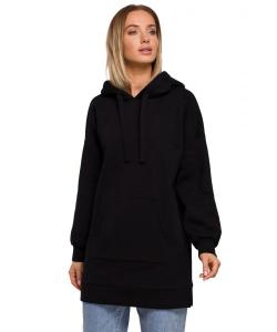 Bluza oversize z dużą kieszenią Czarna