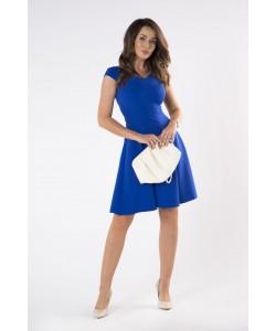 Kobieca sukienka z zakładkami 36-46 Fiona chabrowa 1