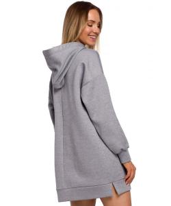 Bluza oversize z dużą kieszenią stalowy