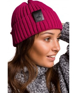 Zimowa czapka damska BK059 malinowa 1