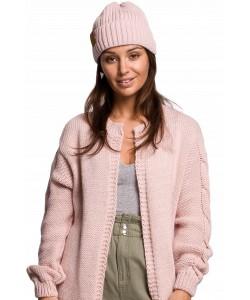 Zimowa czapka damska BK059 różowa 1