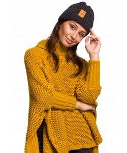 Zimowa czapka damska BK059 czarna