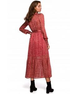 Kobieca sukienka w stylu boho S-XXL K238 czerwona 1