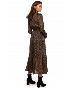 Kobieca sukienka w stylu boho S-XXL K238 granatowa 1