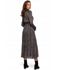 Kobieca sukienka w stylu boho S-XXL K238 grafitowa 1
