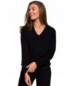 Prosty sweterek dresowy K246 S-XXL czarny 1
