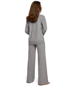 Spodnie dzianinowe szerokie szare
