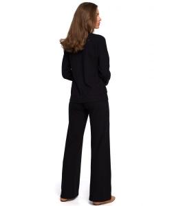Spodnie dzianinowe szerokie czarne