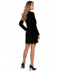 Welurowa sukienka żakietowa M562 czarna