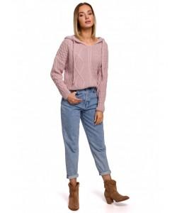 Kolorowy damski sweter S-XL BK048 Malinowy