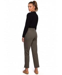 Spodnie typu joggers S228 oliwkowe
