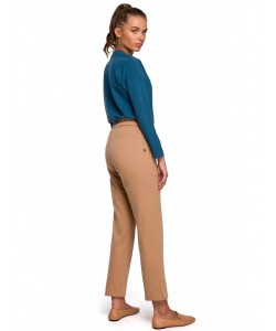 Spodnie typu joggers S228 cappuccino