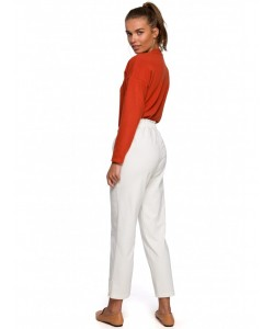 Spodnie typu joggers S228 waniliowy