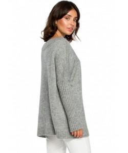 Sweter z kimonowymi rękawami BK009 szary