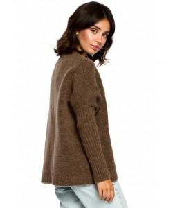 Sweter z kimonowymi rękawami BK009 brązowy