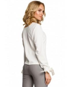 Kobieca bluzka z wiązanymi mankietami M322 ecru