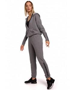 Spodnie dresowe z lampasem M553 szare