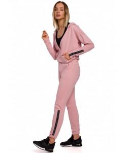 Spodnie dresowe z lampasem M553 różowe