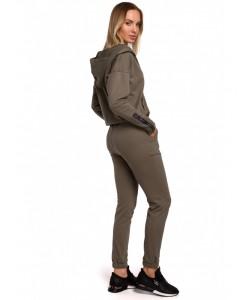 Spodnie dresowe z lampasem M553 khaki