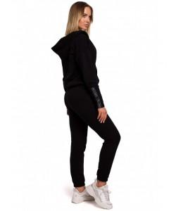 Spodnie dresowe z lampasem M553 czarny