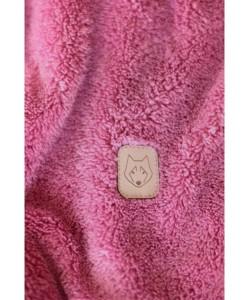 Pluszowe spodnie Joggersy LA004 wrzosowy